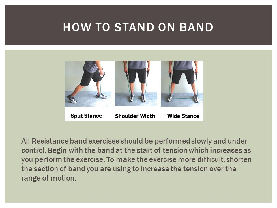 How to stand on band
