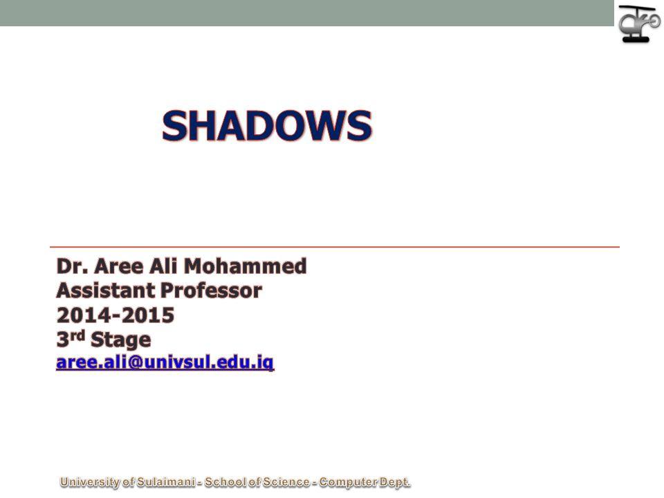 University of Sulaimani - School of Science - Computer Dept.