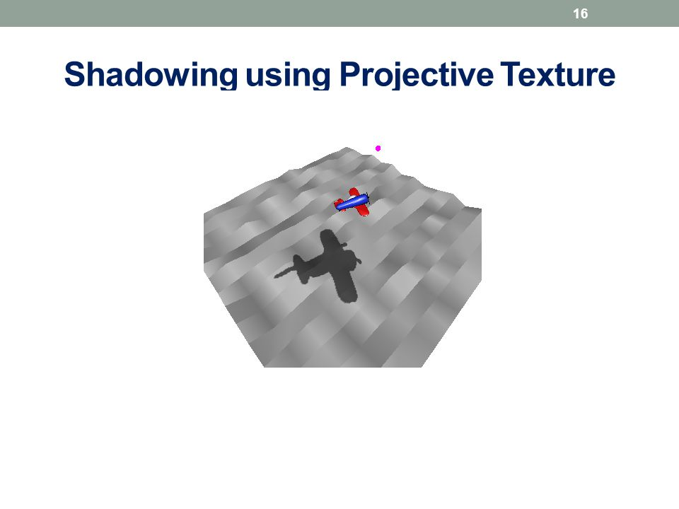 Shadowing using Projective Texture