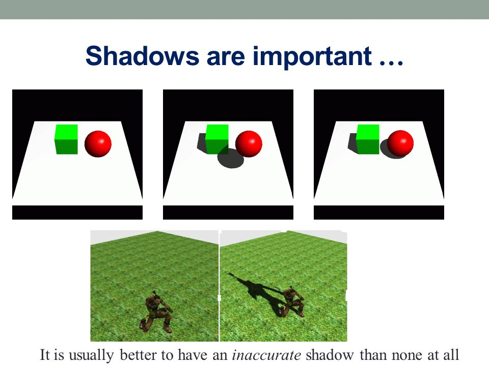 Shadows are important …