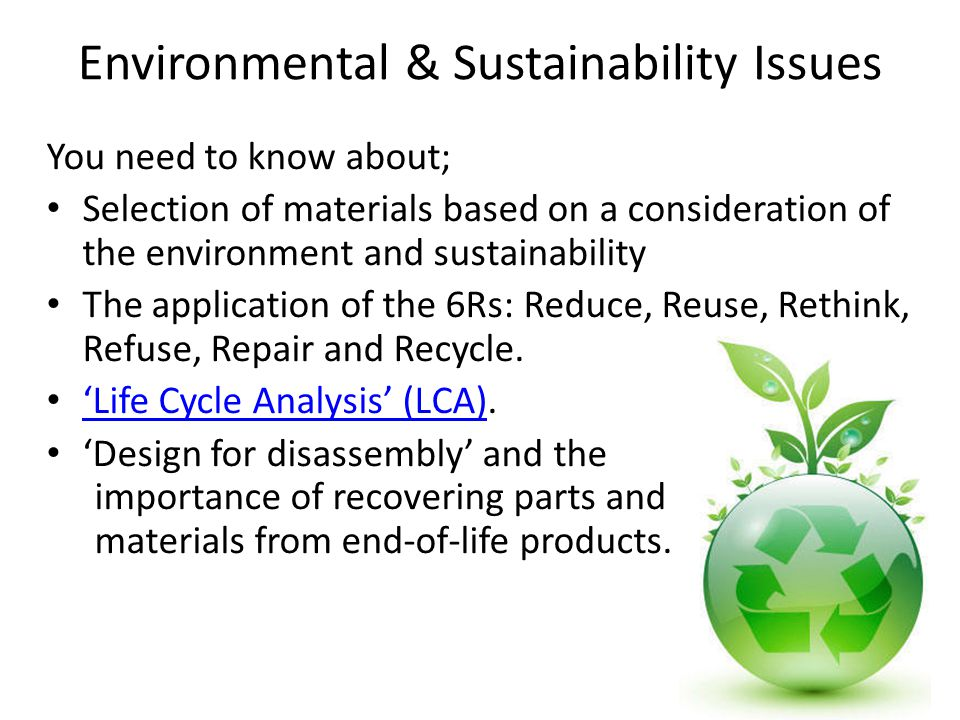 Environmental & Sustainability Issues
