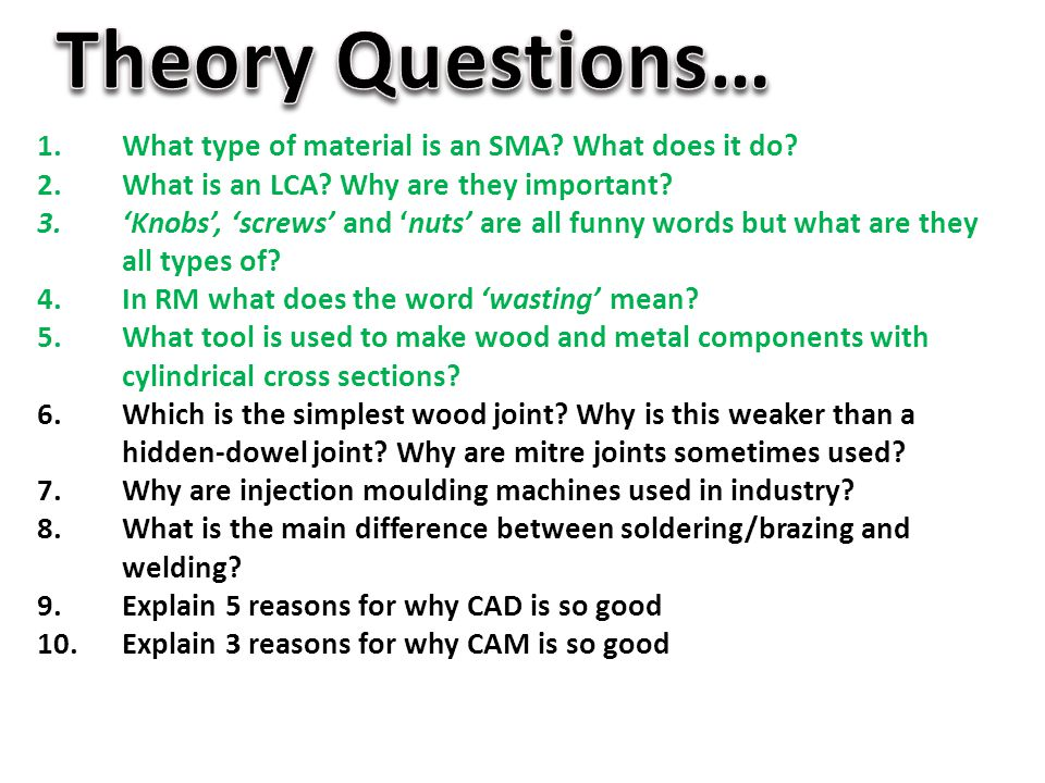 Theory Questions… What type of material is an SMA What does it do