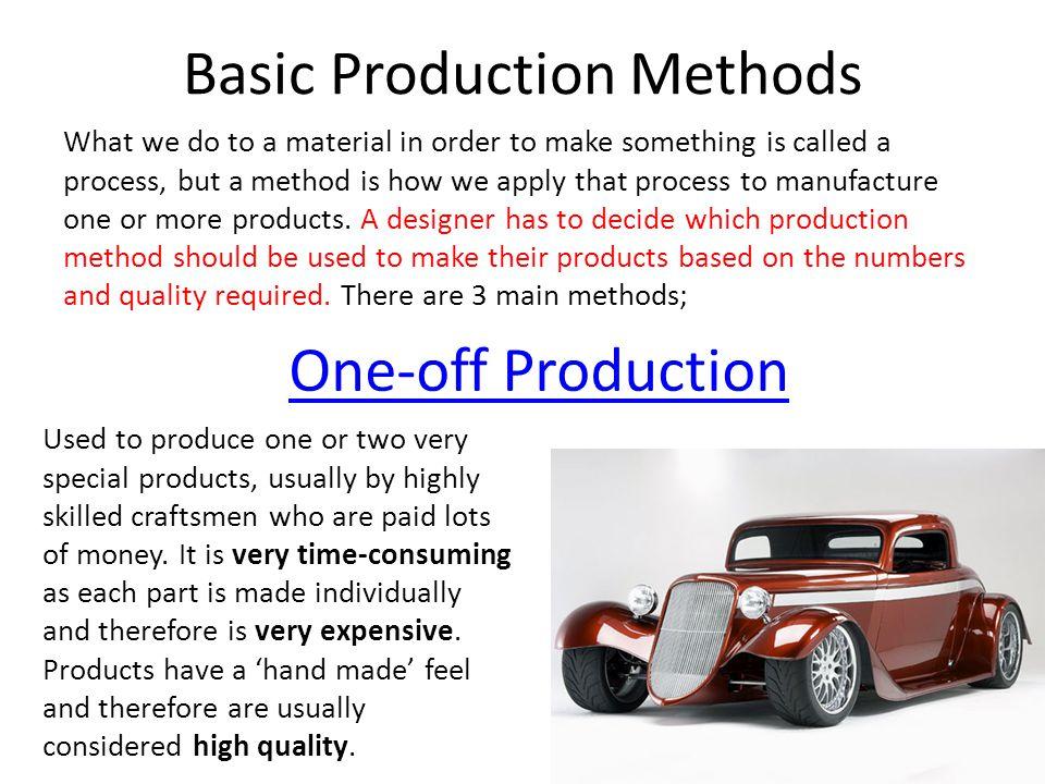 Basic Production Methods