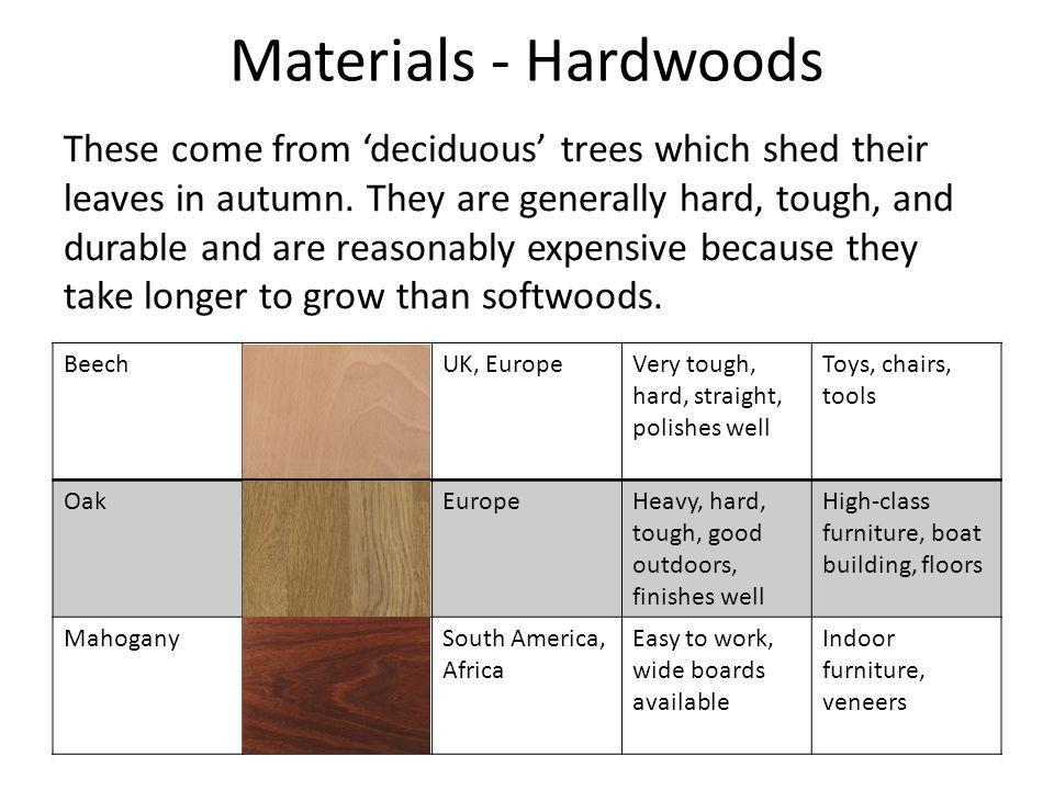Materials - Hardwoods