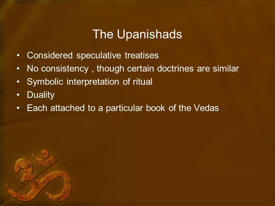 The Upanishads Considered speculative treatises