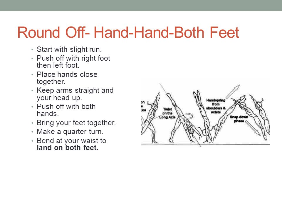 Round Off- Hand-Hand-Both Feet