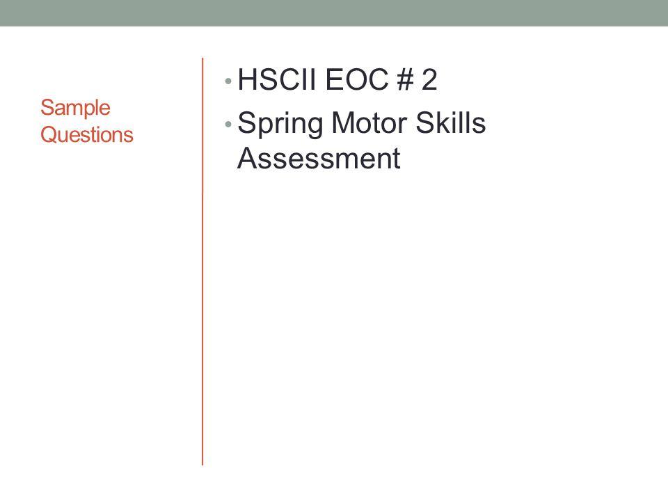Spring Motor Skills Assessment