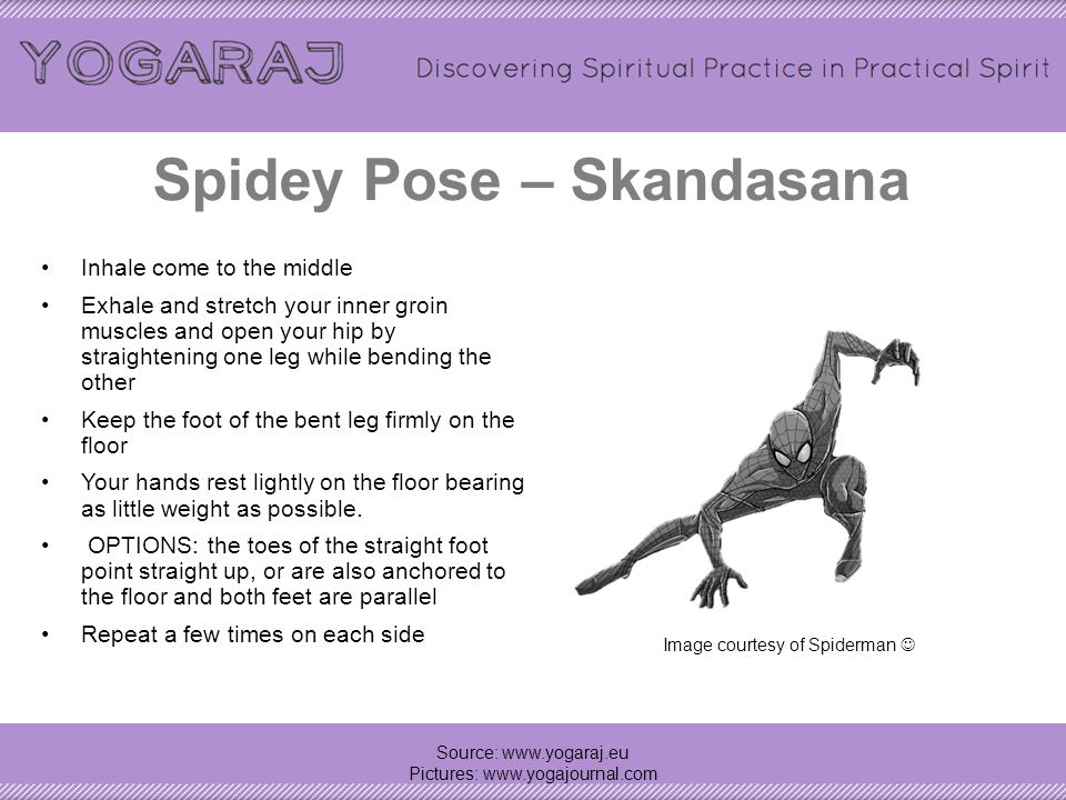 Spidey Pose – Skandasana