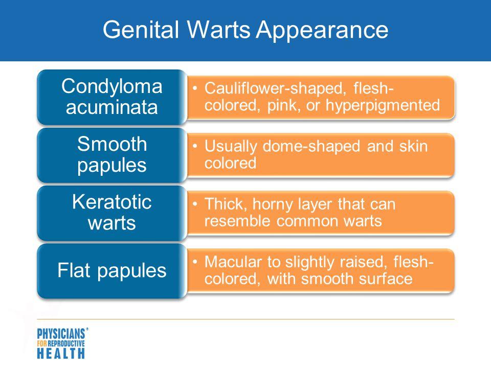 Genital Warts Appearance