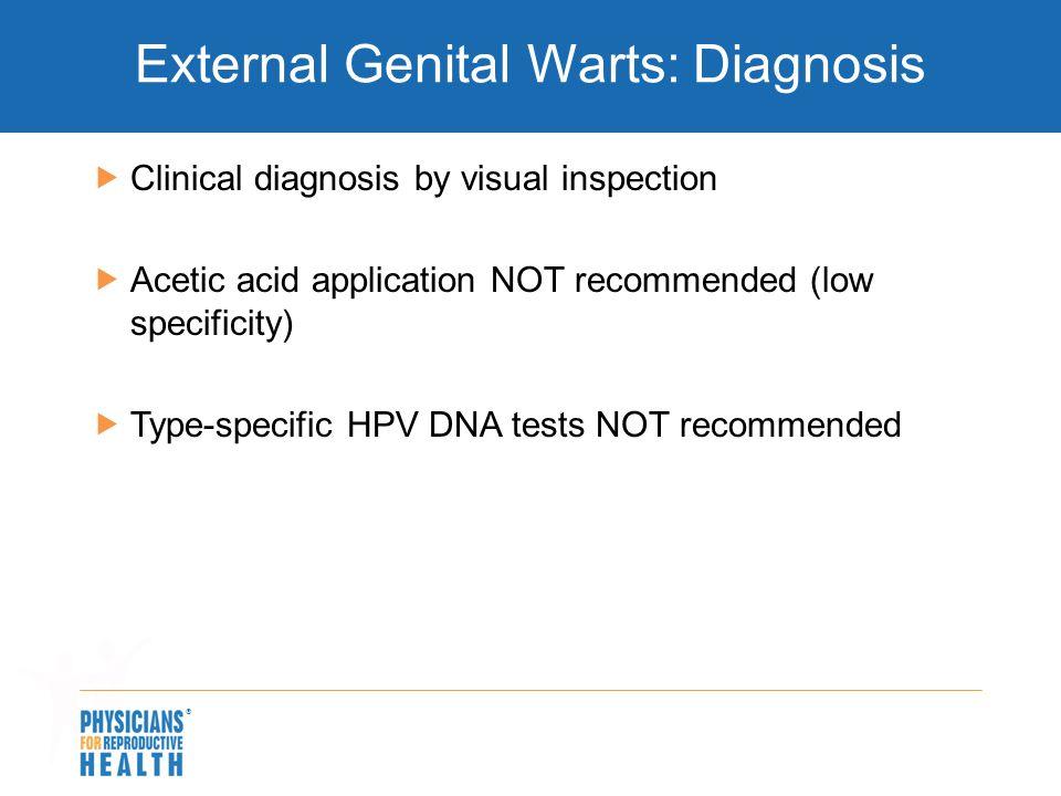 External Genital Warts: Diagnosis