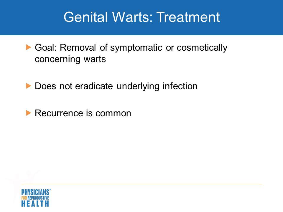 Genital Warts: Treatment