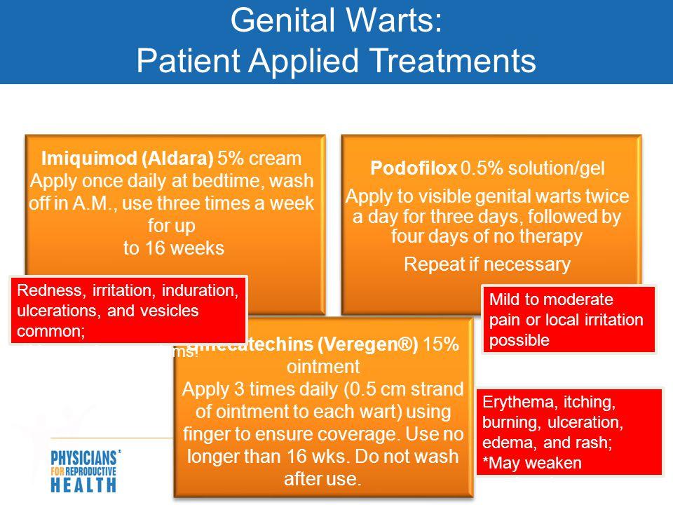 Genital Warts: Patient Applied Treatments