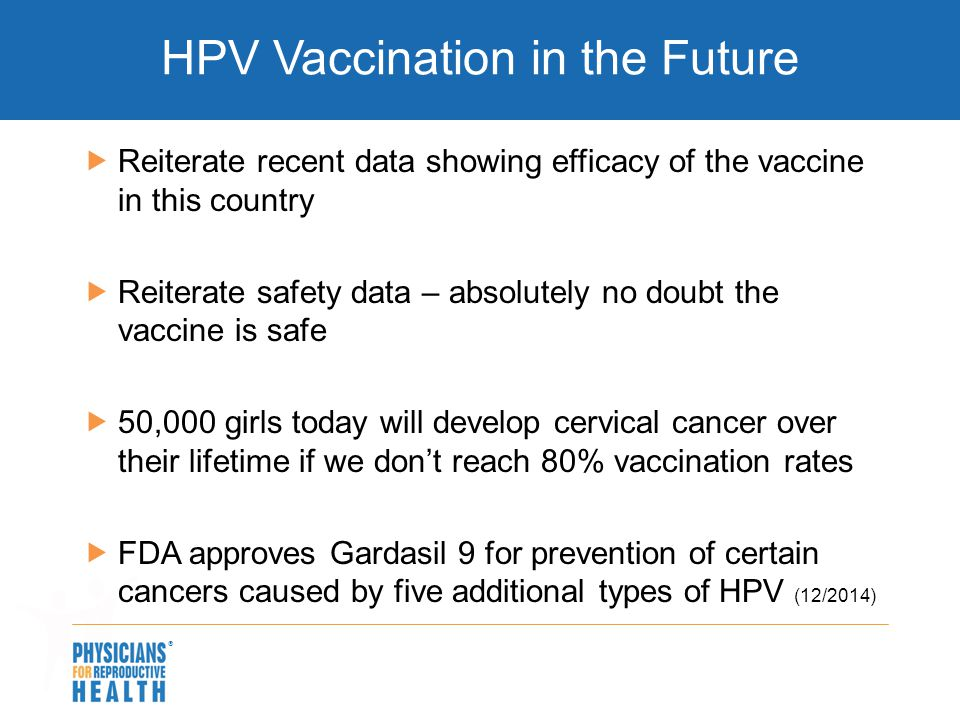 HPV Vaccination in the Future