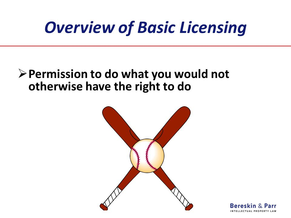 Overview of Basic Licensing