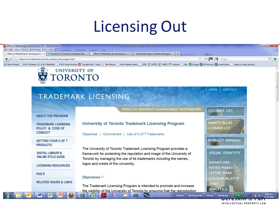 Licensing Out