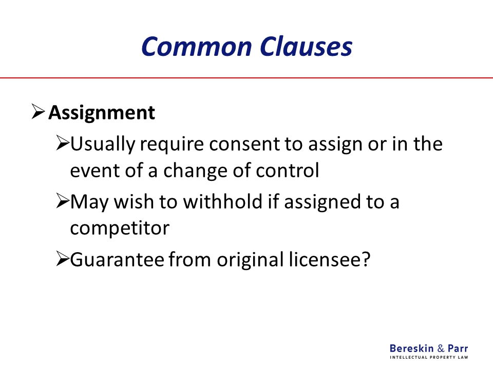 Common Clauses Assignment