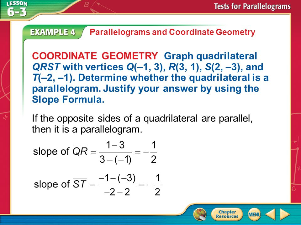 Parallelograms and Coordinate Geometry