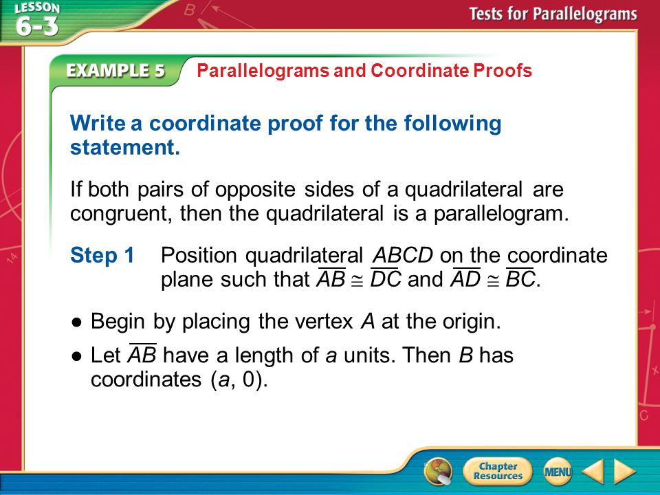 Write a coordinate proof for the following statement.