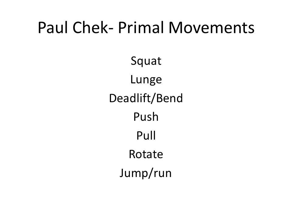 Paul Chek- Primal Movements