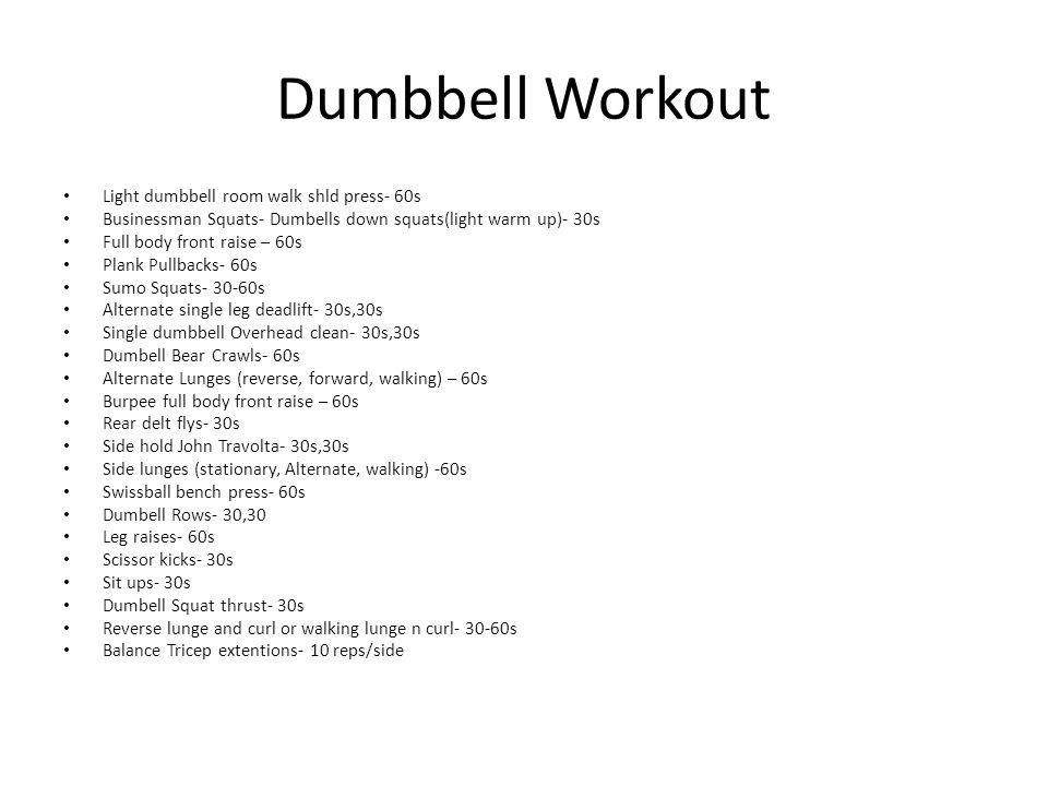 Dumbbell Workout Light dumbbell room walk shld press- 60s