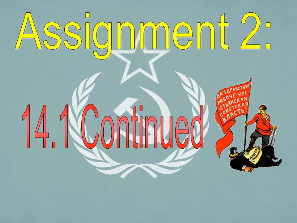 Assignment 2: 14.1 Continued