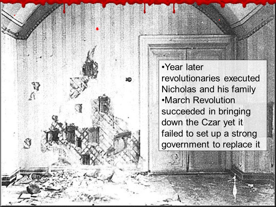 Year later revolutionaries executed Nicholas and his family