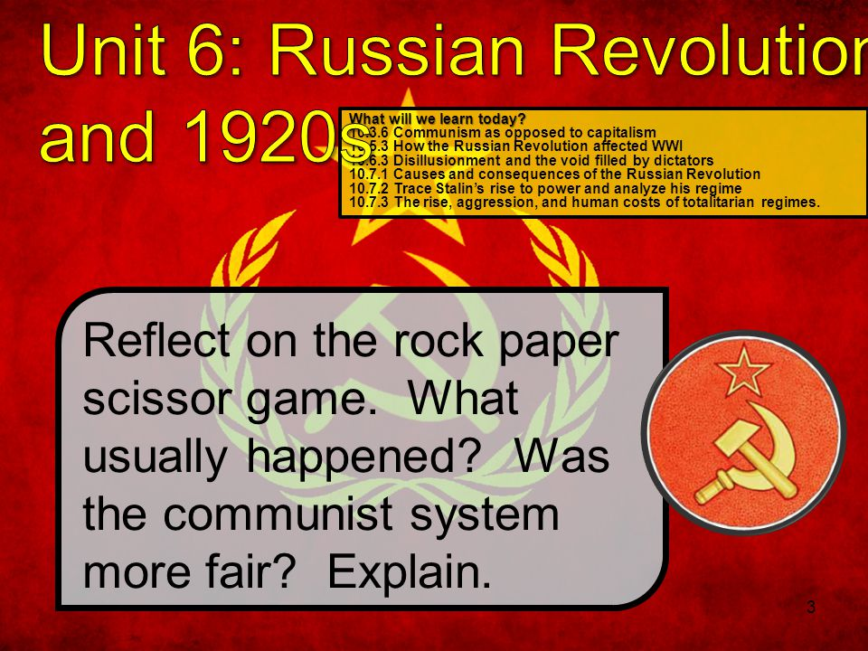 Unit 6: Russian Revolution and 1920s
