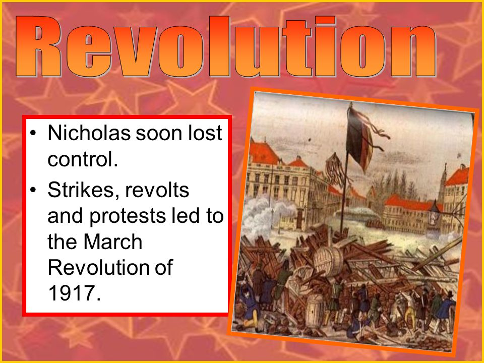 Revolution Nicholas soon lost control.