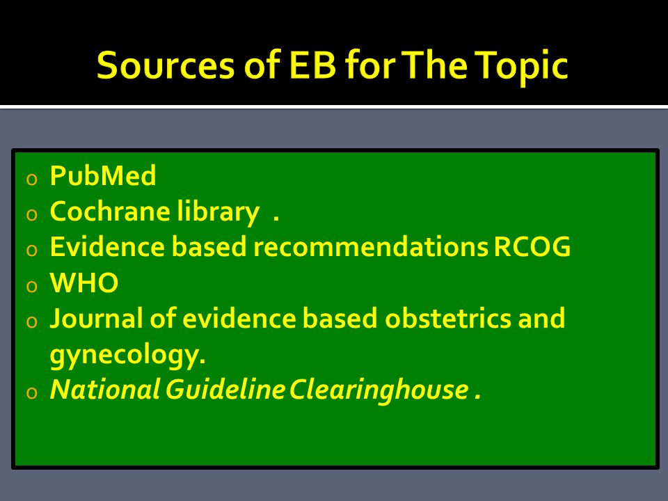 Sources of EB for The Topic