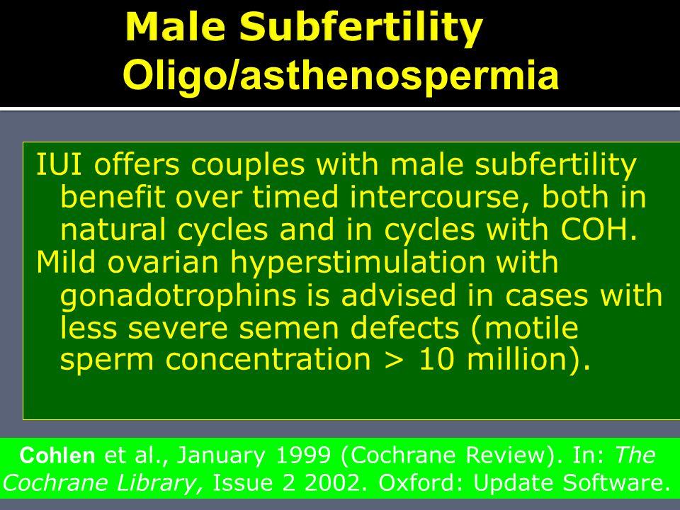 Oligo/asthenospermia