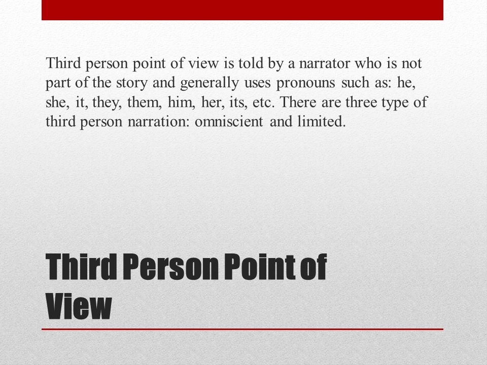 Third Person Point of View