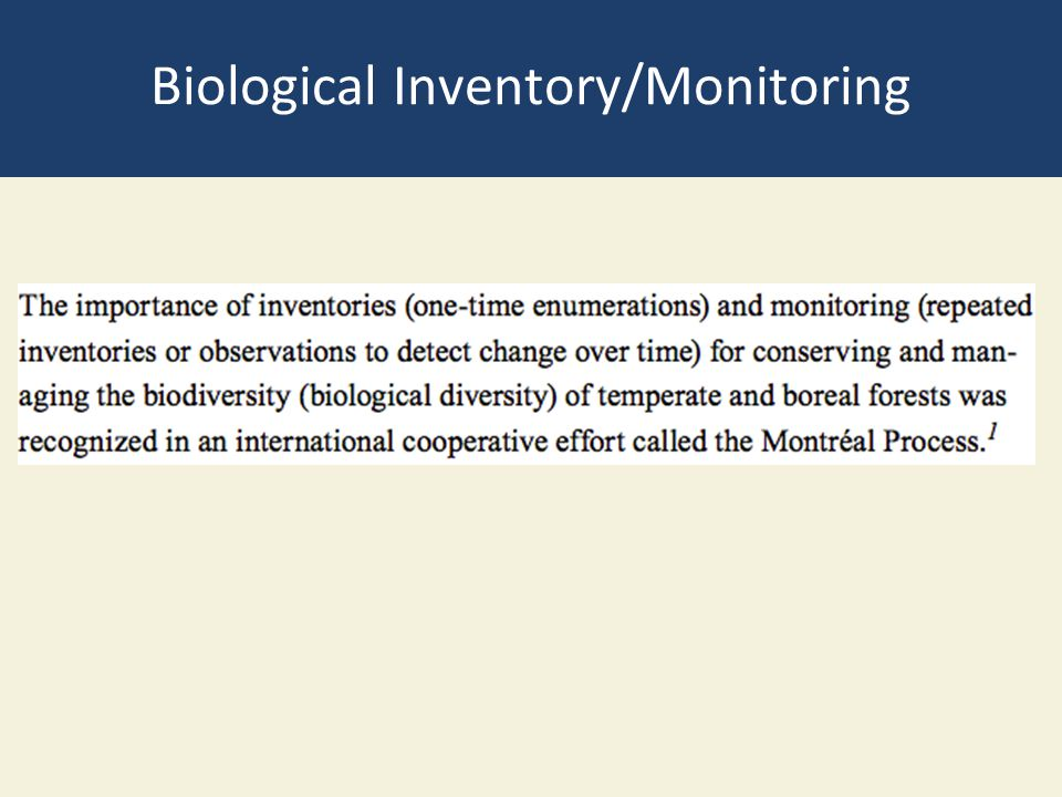 Biological Inventory/Monitoring