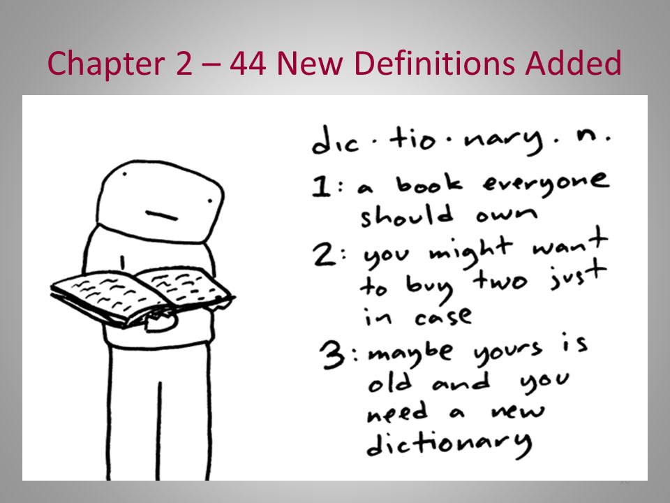 Chapter 2 – 44 New Definitions Added