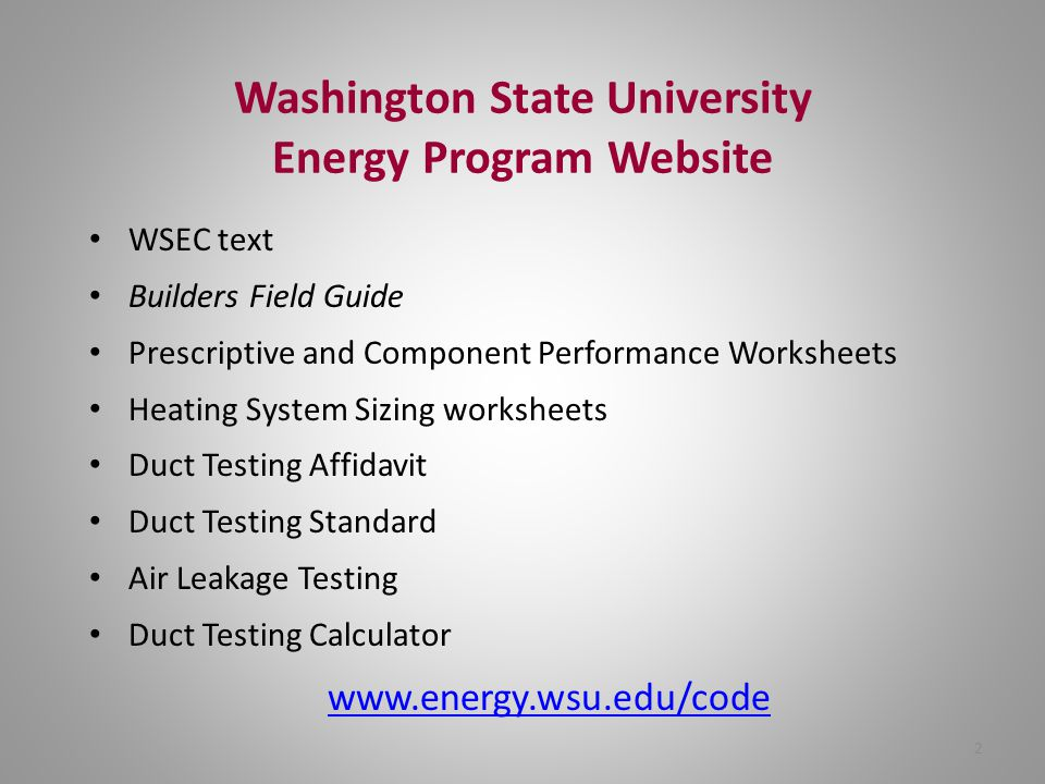 Washington State University Energy Program Website