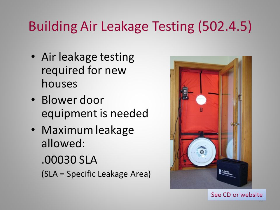 Building Air Leakage Testing (502.4.5)
