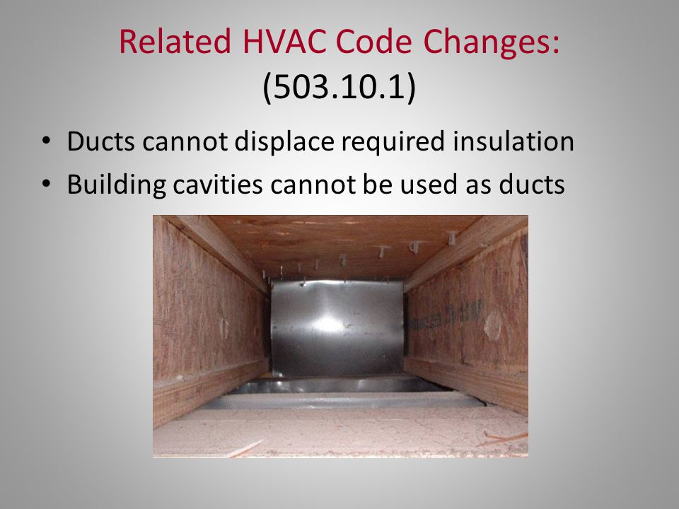 Related HVAC Code Changes: (503.10.1)