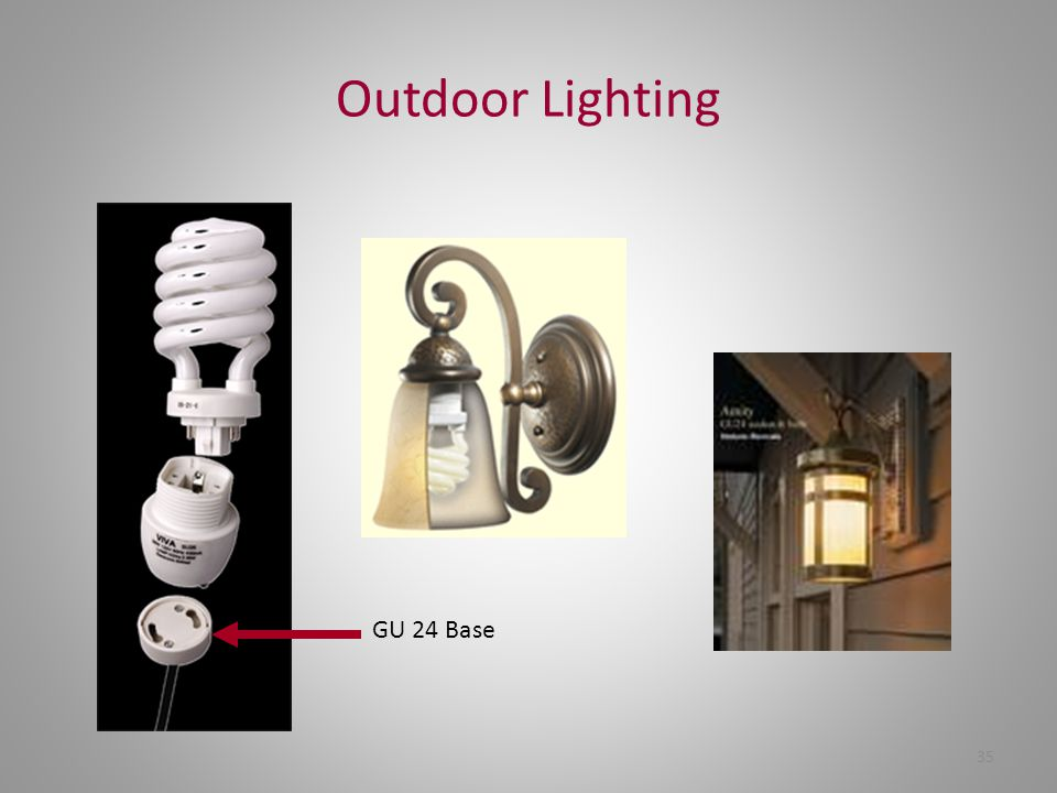 Outdoor Lighting GU 24 Base