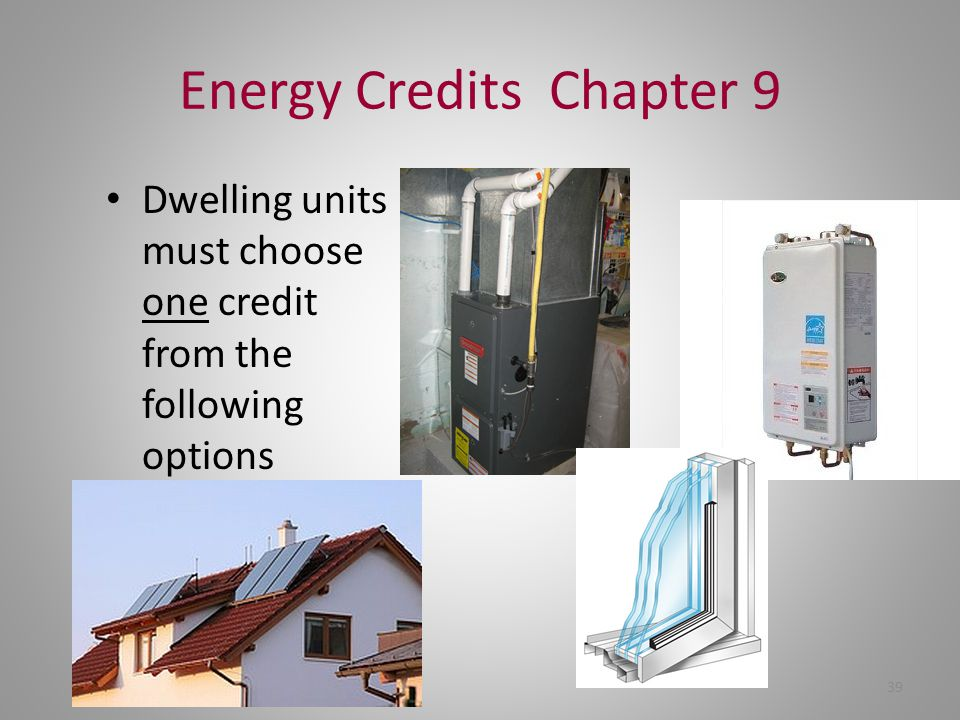 Energy Credits Chapter 9