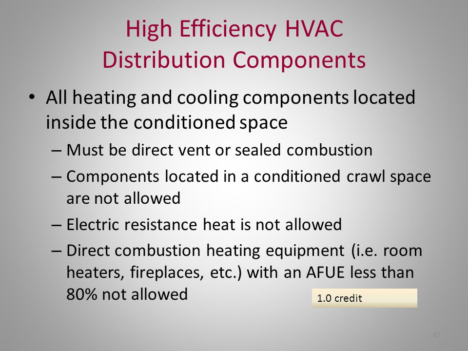 High Efficiency HVAC Distribution Components