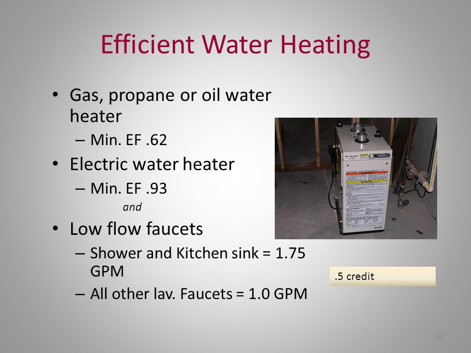 Efficient Water Heating