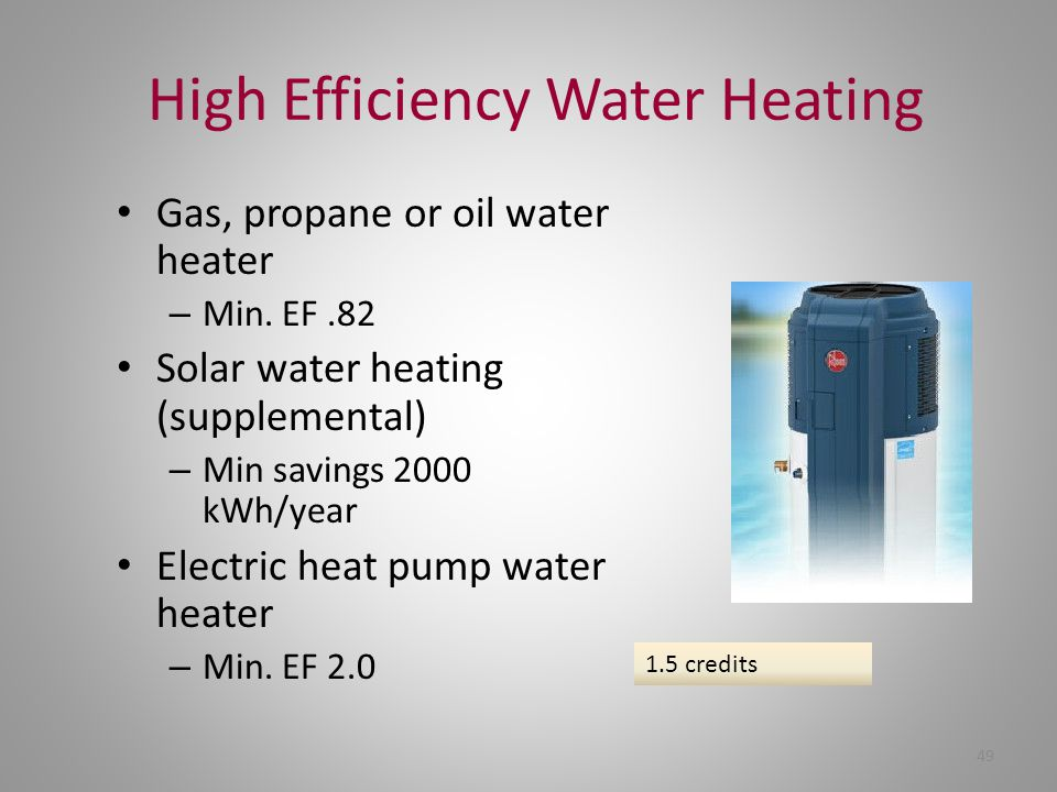 High Efficiency Water Heating