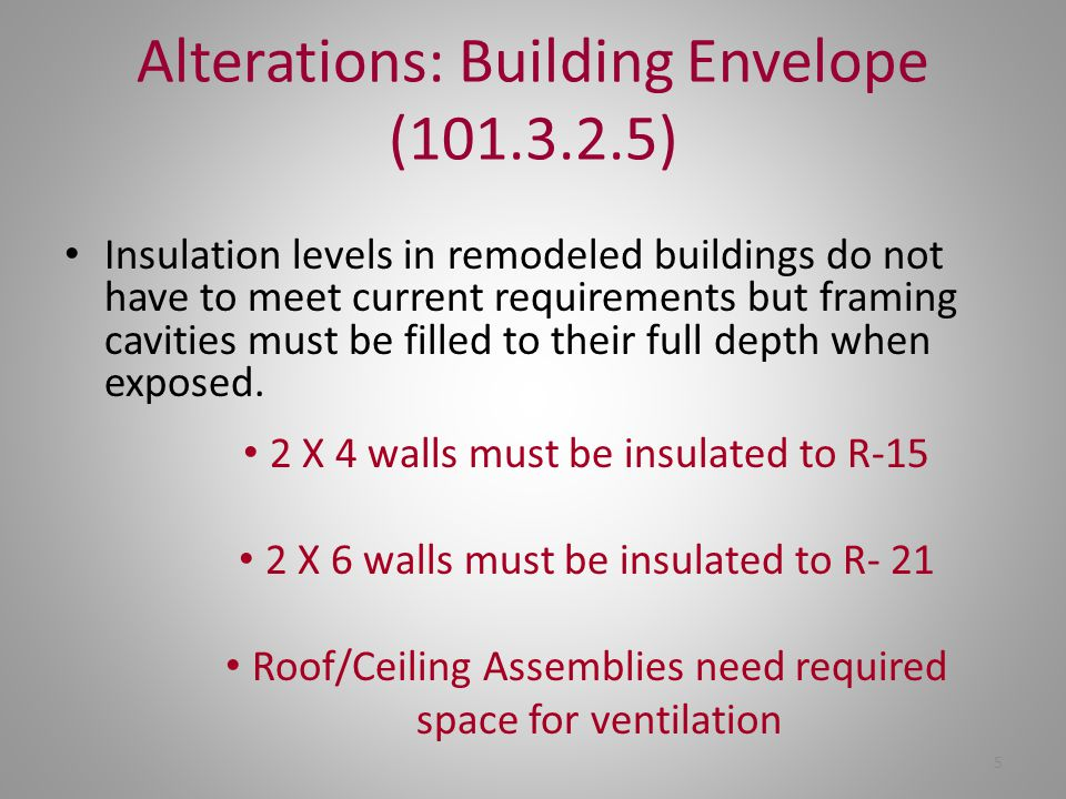 Alterations: Building Envelope (101.3.2.5)