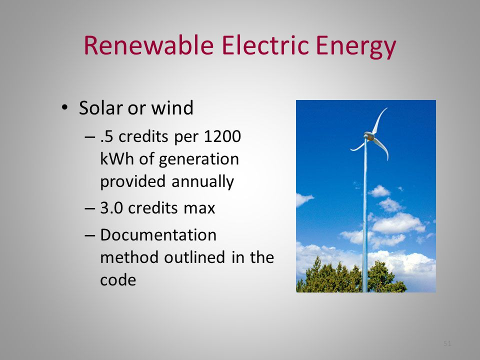 Renewable Electric Energy