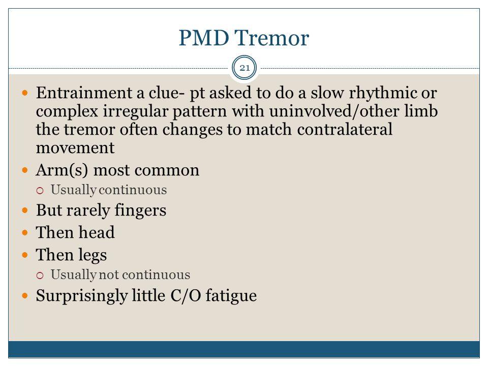 PMD Tremor