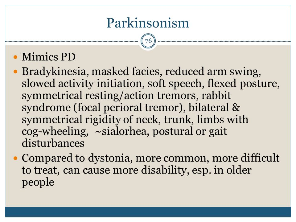 Parkinsonism Mimics PD