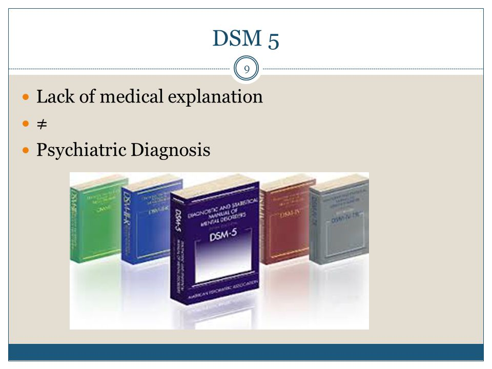 DSM 5 Lack of medical explanation ≠ Psychiatric Diagnosis