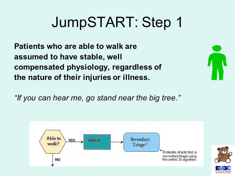 JumpSTART: Step 1 Patients who are able to walk are