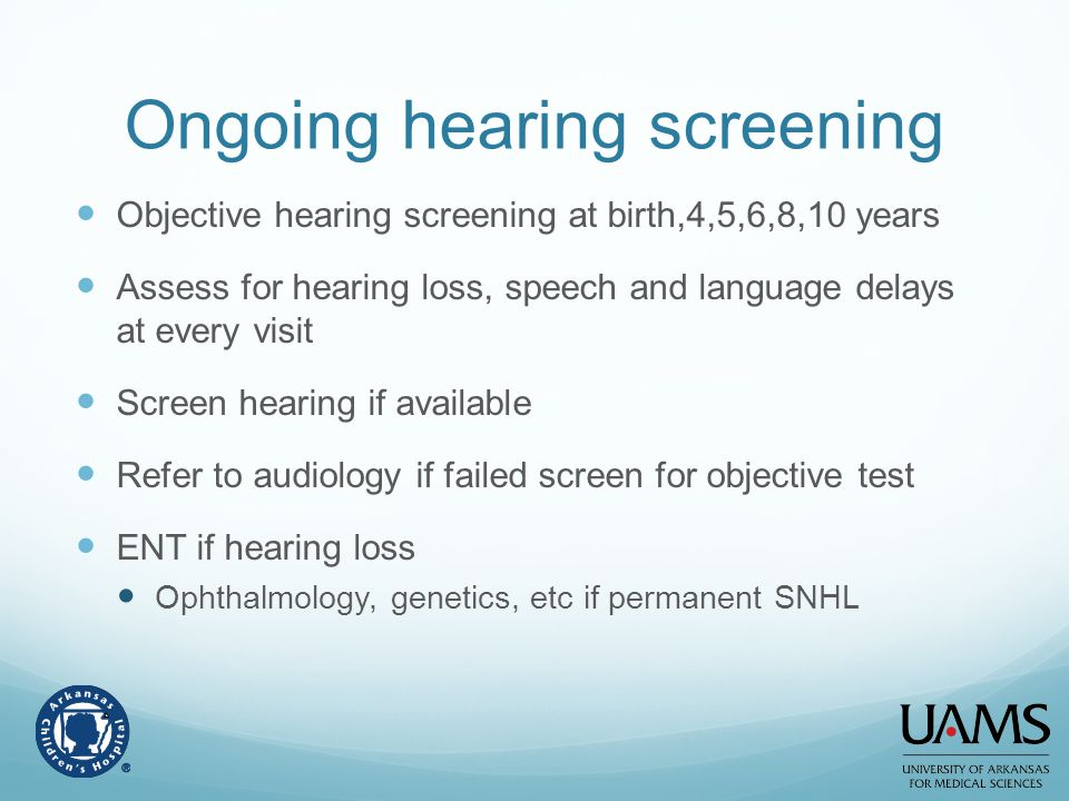 Ongoing hearing screening