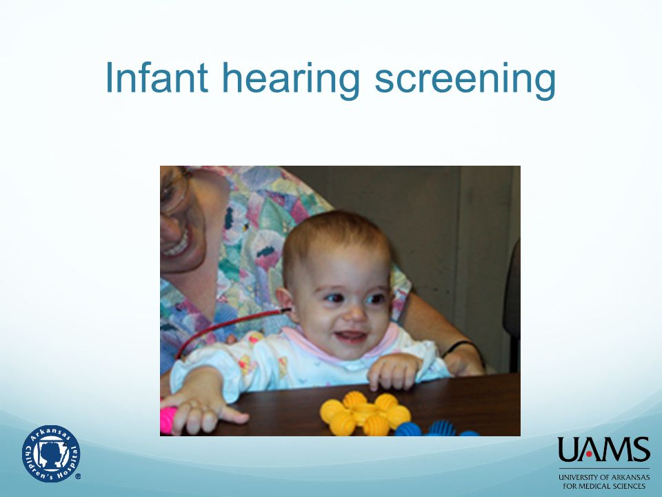 Infant hearing screening