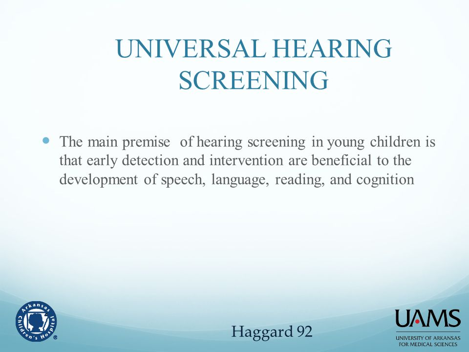 UNIVERSAL HEARING SCREENING